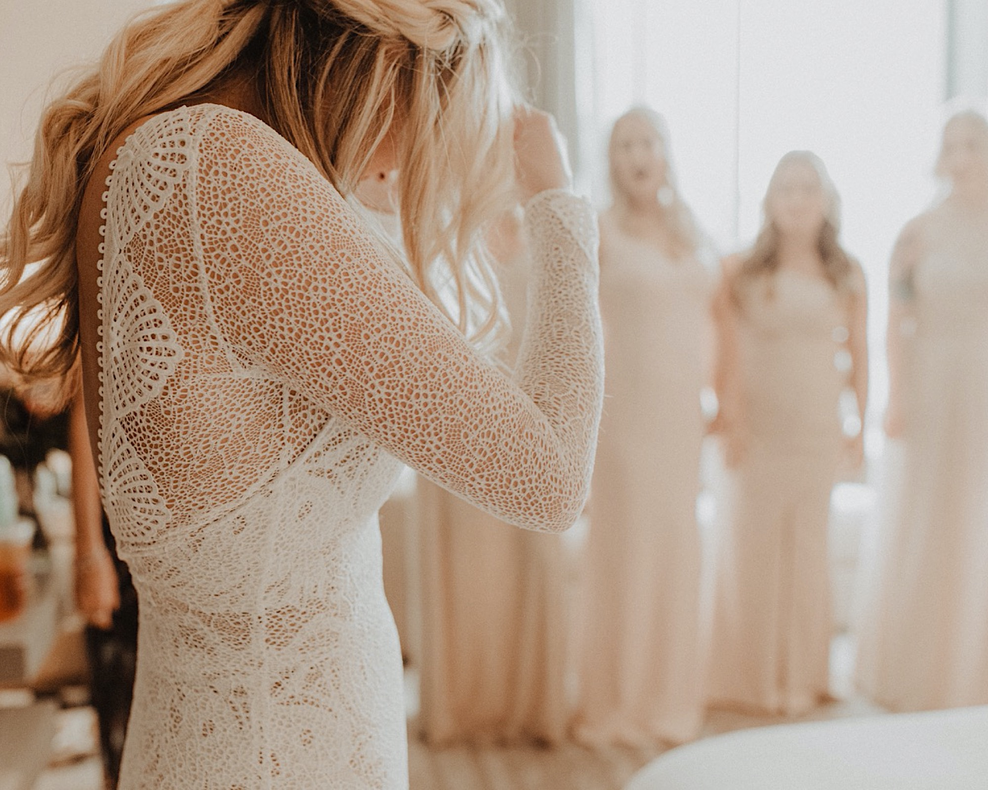 grace loves lace Inca gown worn by bride at river center wedding