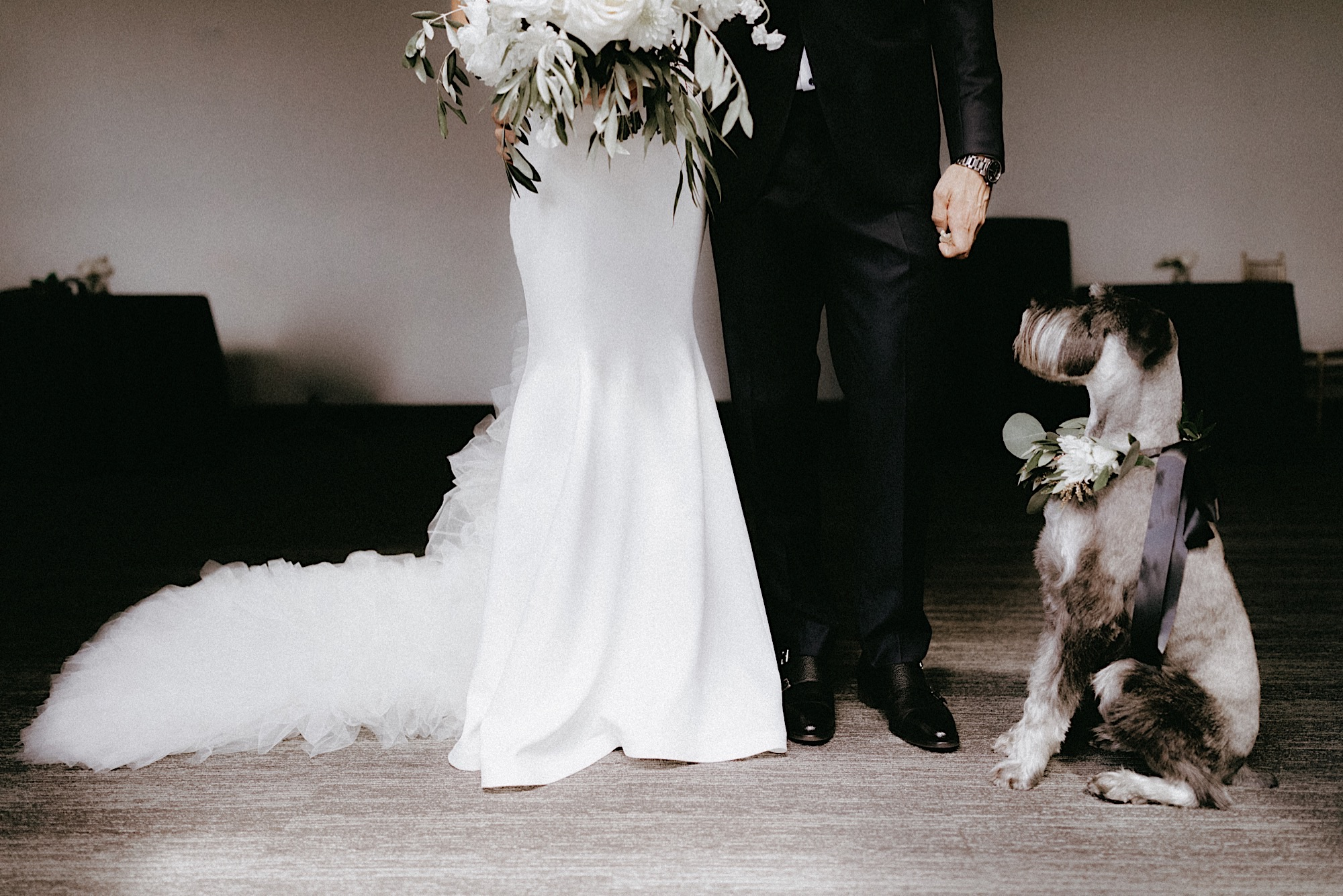 Des Moines tea room wedding with dog