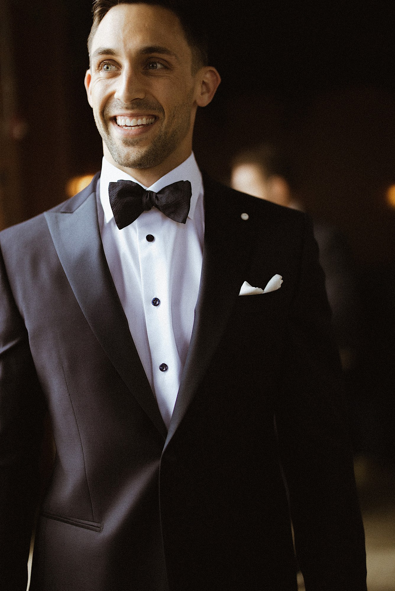 groom in luigi bianchi mantova suit