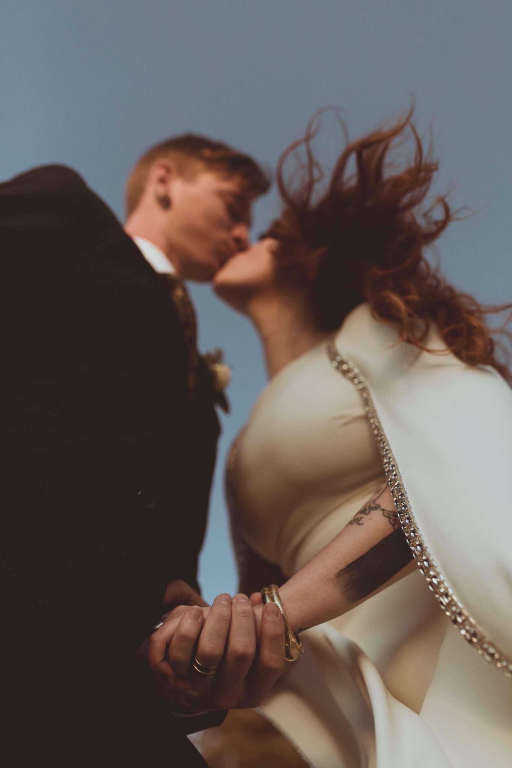 reem acre cape wedding dress